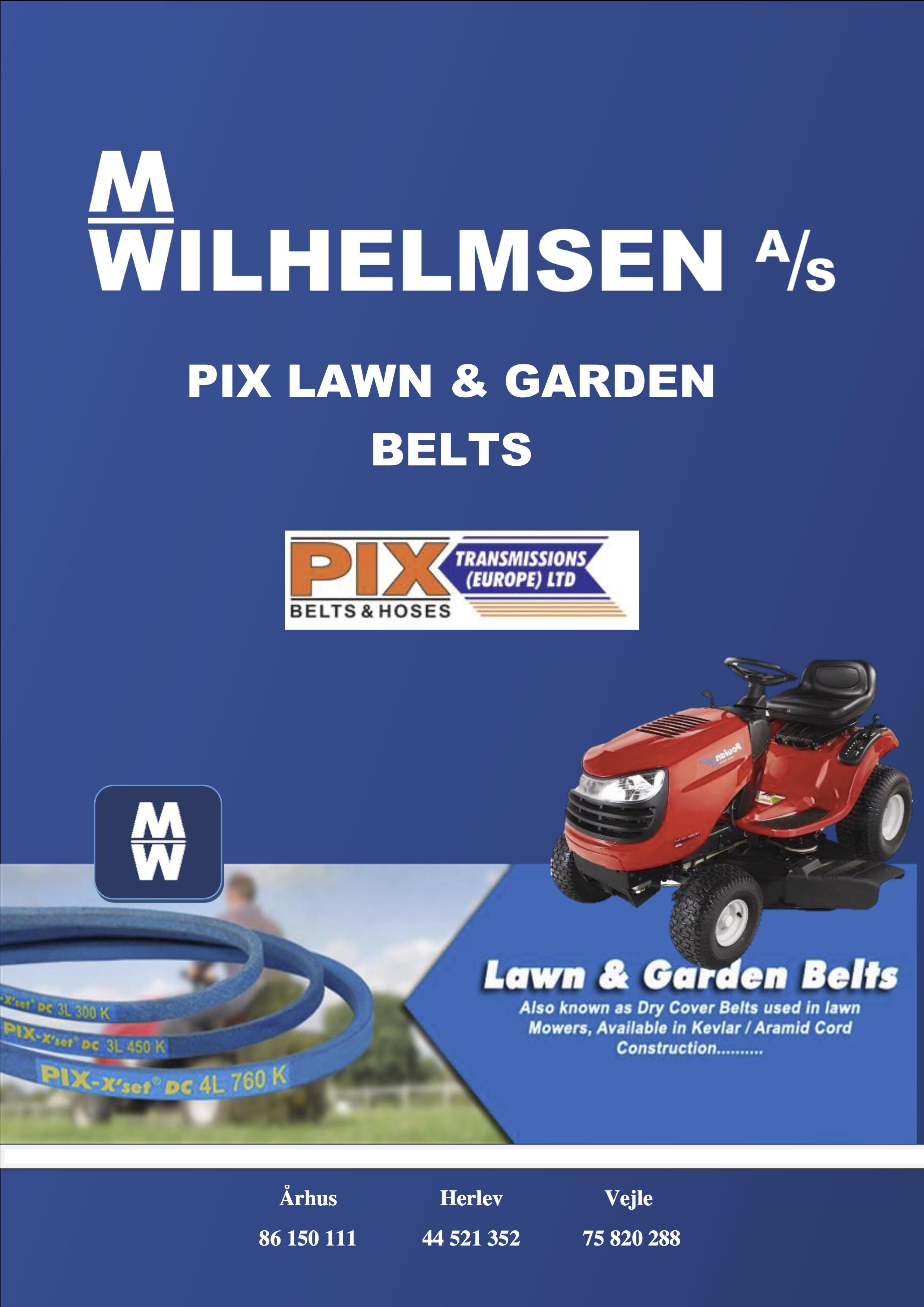 PIX lawn & belts